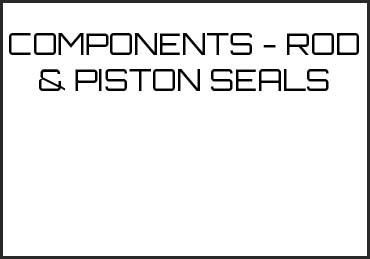 Picture for category COMPONENTS - ROD & PISTON SEALS