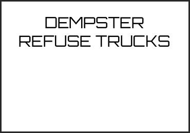 Picture for category DEMPSTER REFUSE TRUCKS