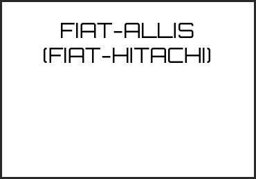 Picture for category FIAT-ALLIS (FIAT-HITACHI)