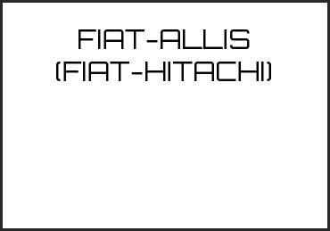 Picture for category FIAT-ALLIS (FIAT-HITACHI)