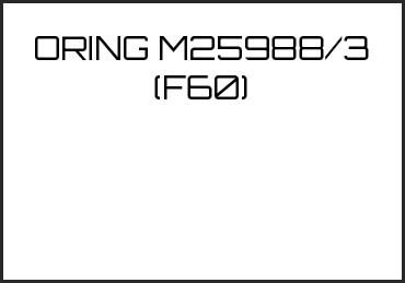 Picture for category ORING M25988/3 (F60)