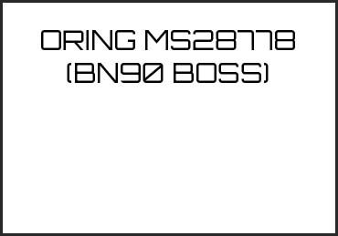 Picture for category ORING MS28778 (BN90 BOSS)