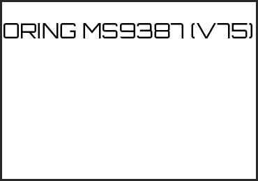 Picture for category ORING MS9387 (V75)