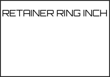 Picture for category RETAINER RING INCH