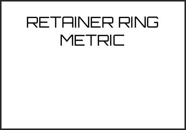 Picture for category RETAINER RING METRIC