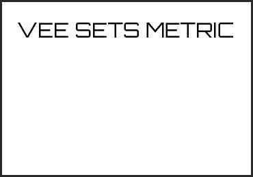 Picture for category VEE SETS METRIC
