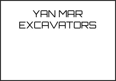 Picture for category YAN MAR EXCAVATORS