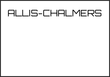 Picture for category ALLIS-CHALMERS