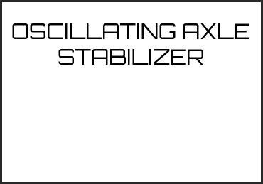 Picture for category OSCILLATING AXLE STABILIZER