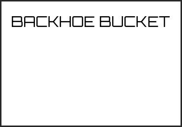 Picture for category BACKHOE BUCKET