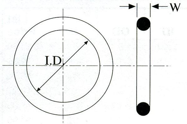 O-RINGS IN NITRILE NBR//70 3450 CORDA 2.62 D.INTERNO 113,97